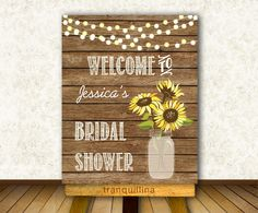 Bridal Shower Welcome Sign Printable, Digital File - Rustic Welcome Sign - Wedding Welcome Sign - pinned by pin4etsy.com