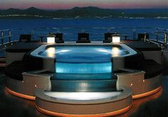 Luxury Yacht Jacuzzi over looking the ocean!