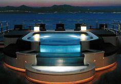 Luxury Yacht Jacuzzi over looking the ocean!