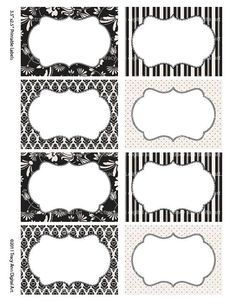 Black and Cream Print your own Labels/Cards for journaling, scrapbooking, gift giving, mailing (Jo) Book Labels, Pantry Labels, Free Printable Tags, Wine Signs, Gifts For Photographers, Crafts To Make And Sell, Wooden Crafts, Journal Cards, Antique Signs