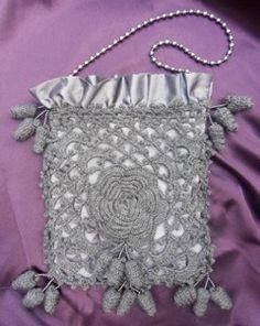 Irish Crochet Opera Bag: free pattern