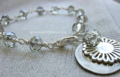Coin jewelry Hammered foreign coin with faceted by BelhavenStudios