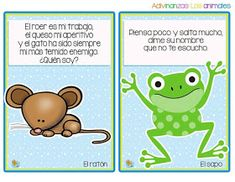 Fichas de adivinanzas de animales para niños Learning Spanish For Kids, Baby Learning, Math For Kids, Activities For Kids, Dual Language, Spanish Language, Language Arts, Exercise For Kids, Homeschool