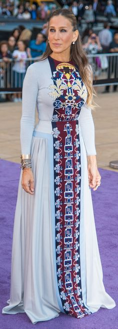 Sarah Jessica Parker in Mary Katrantzou at the New York City Ballet Fall Gala