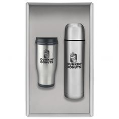 Promotional Products Ideas That Work: Personal travel pair gift set /stainless steel tumbler. Get yours at www.luscangroup.com