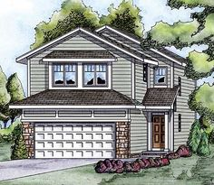 Narrow Lot Living with Choices - 40881DB | Architectural Designs - House Plans