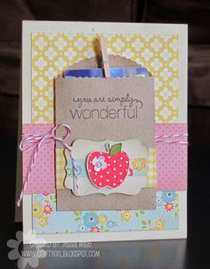 Crafty Girl Designs: Wonderful Teacher Card