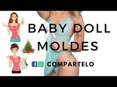 BABY DOLL MOLDES COMO HACERLO - YouTube Face Yoga, Lace Bra, Diy Clothes, Baby Dolls, Bikinis, Swimwear, Sewing, Womens Fashion, Youtube