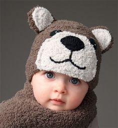 Modèle bonnet ours bébé - Modèles tricot layette - Phildar