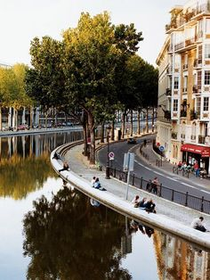 Paris  Canal St-Martin  Photograph by John Kernick    The serene Canal St-Martin stretches three miles (4.8 kilometers) from the Seine to Parc de la Villette in the tenth district.