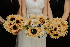 To see more of this sunflower themed wedding visit Teller of Tales Photography Wedding Couples, Our Wedding, Wedding Photos, Party Photos, Greenhouse Wedding, Bride Bouquets, Guys And Girls, Wedding Details, Floral Wreath