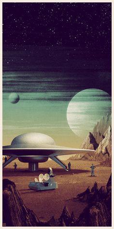 70 Ideas For Science Fiction Retro Flying Saucer Arte Sci Fi, Sci Fi Art, Ufo, Sci Fi Kunst, Science Fiction Kunst, Cyberpunk, Classic Sci Fi, Vintage Space, Futuristic Art