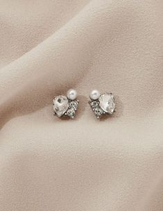 These petite and charming studs were made for the classic girl. With a mix of pearls and crystals, they're timeless earrings you can wear over and over again. Classic Girl, Studs, Pearl Earrings, Pearls, Crystals, How To Wear, Jewelry, Fashion, Moda