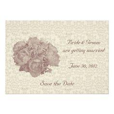 Bouquet Cream Rose Wedding Invitation