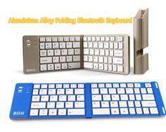 Best Aluminium Alloy Folding iPhone Samsung iPad Air Mini PC Notebook Bluetooth Keyboard PKB02_9