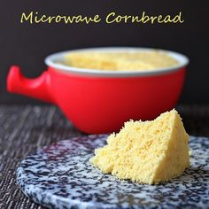Microwave cornbread - it couldn't be easier. Mix it in the bowl. Microwave for 3 minutes.