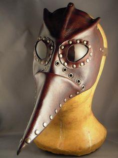 Steampunk leather mask - Plague Doctor - Pestarzt