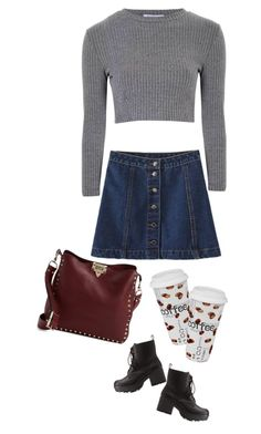 """""""coffee"""" by ecem1 ❤ liked on Polyvore featuring Charlotte Russe, Glamorous, Valentino and Könitz"""