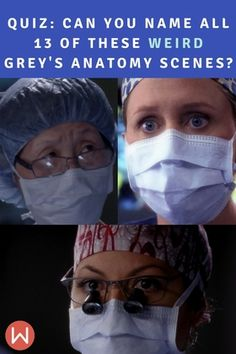 Grey's Anatomy weirdest scenes in a quiz to challenge your Grey's Knowledge. 10 Judy doll heads? a male hysterical pregnancy/teritoma? If you haven't missed a single episode of Grey's then you might remember these iconic scenes. Weird Grey's Anatomy, Grey's Gross, Grey's Craziness, Greys Anatomy quiz, Grey's Trivia, Ultimate Grey's Trivia. Callie, Arizona Robbins, Meredith Grey, Cristina Yang, Derek Shepherd, Shonda Rhimes, Seattle Grace.