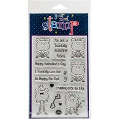 """Your Next Stamp Clear Stamps 4""""X6""""-Froggie Love"""