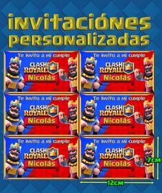 Clash Royale Kid Imprimibles Invitación, Corona, Banderines+ - $ 30,00 Clash Of Clans, Chocolate, Kids, Royal Party, Infinity, Image, Lollipop Candy, Ideas Party, Birthday Invitations