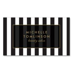 Black and White Stripes Salon III Business Card. I love this design! It is available for customization or ready to buy as is. All you need is to add your business info to this template then place the order. It will ship within 24 hours. Just click the image to make your own!