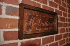 Copper Engraved Sign...Great wedding gift