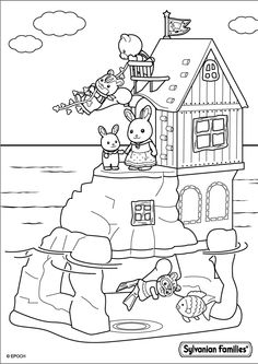 Coloriage famille Lapin Chocolat