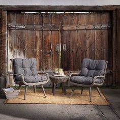 Resin Wicker Outdoor Furniture Patio Table And Chairs With Cushions All Weather #BelhamLiving