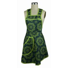Eyes of the World Organic Cotton Full Apron-Win It in the Kitchen Package! Great Idea for Mother's Day! From AGreenerKitchen.com