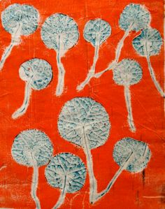 Gelatine Print using Derivan Screen Ink with Nasturtium leaves White Spirit, Silk Screen Printing, How To Dye Fabric, Stamps, Leaves, Facts, Ink, Prints, Painting