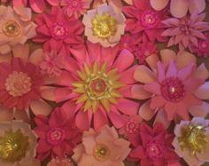 Paper flower backdrop 3ft x 2ft