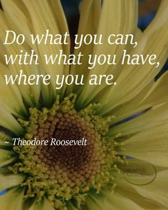 Theodore Roosevelt do what you can quote famous inspirational sayings