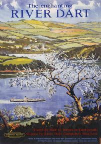 The Enchanting River Dart. Vintage BR Travel Poster.