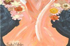 Original Mixed Media painting  Gossip Girls  by iklektikLifeLLC