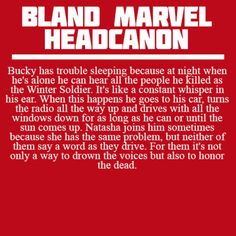 Bland Marvel Headcanons. This is sad, but I want a fanfic