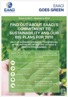 The European Academy of Allergy and Clinical Immunology, EAACI, is an association including 47 European National Societies, more than academicians, research investigators and clinicians. Green Initiatives, Together We Can, Go Green, Allergies, How To Plan, News