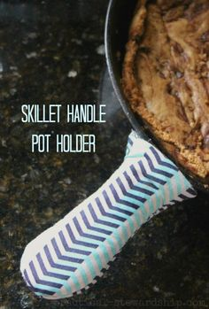 DIY Pot Holder for a Skillet Handle-quick, easy, and thrifty to make!