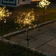 Purchase Solar LED Firework Garden Stake Light from New Product Solutions on OpenSky. Pathway Lighting, Landscape Lighting, Outdoor Lighting, Outdoor Hanging Lights, Backyard Lighting, Lighting Ideas, Lighting Design, California Pizza Kitchen, Hells Kitchen