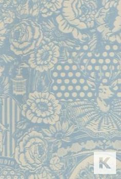 Peacock and woodland animals wallpaper - light blue