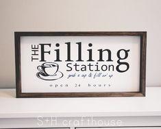Coffee Bar Home, Star Coffee, Coffee Bar Signs, Coffee Love, Coffee Bar Station, Slate Cheese Board, The Ok, Filling Station, Love Signs