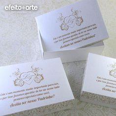 Caixinhas para padrinhos de casamento.   Orçamentos e pedidos pelo e-mail contato@efeitoearte.com.br