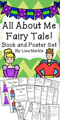 """Put a fairy tale twist on your back to school """"all about me"""" theme! Help your students write their own fairy tale starring themselves! This set includes a prince and princess story book in color and in black and white, so they can color the prince or princess however they want! It also includes a poster with a shortened """"all about me"""" to fill out for your royal bulletin board!"""