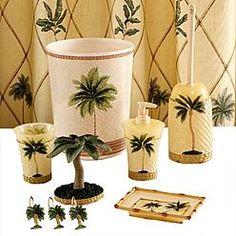 Palm Tree Bath Towels Essential Home Royal Accessory Collection Accessories