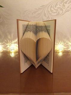Les débutants livre modèle de pliage pour un coeur + TUTORIEL GRATUIT