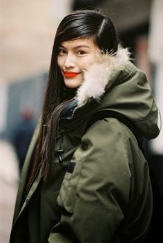 Furry-Hooded Parkas