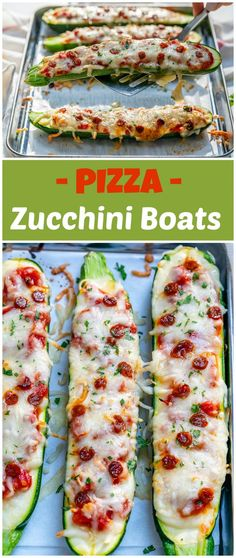 THE Best Pizza Zucchini Boats Ever for a Clean Eating Night In! - Clean Food Crush