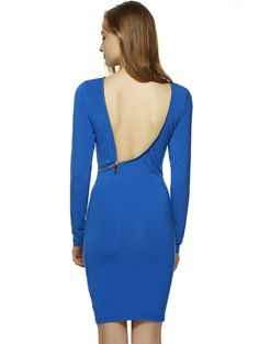 Bodycon Dresses | Chic Slash Neck Long Sleeve Bodycon Dress #fashion #style #sexy #dress