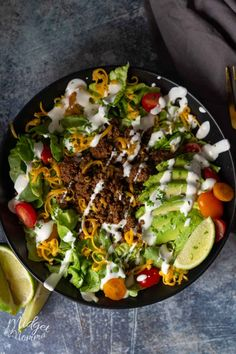 Make taco night full of flavor while being low carb and keto friendly with this low carb taco salad! Make taco night full of flavor while being low carb and keto friendly with this low carb taco salad! Low Carb Taco Salad, Taco Salad Recipes, Low Carb Tacos, Healthy Tacos, Low Carb Taco Seasoning, Low Carb Keto, Low Carb Recipes, Healthy Recipes, Ketogenic Recipes