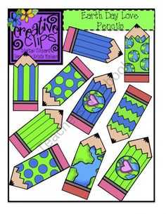 Free Earth Day Pencils product from Creative-Clips-Clipart on TeachersNotebook.com